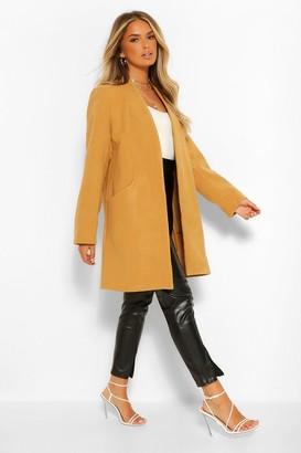 boohoo Lightweight Wool Look Coat