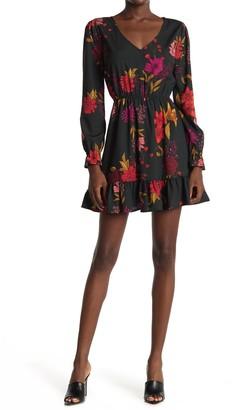 BB Dakota Floral Ruffle Hem Dress