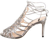 Alexandre Birman Metallic Watersnake Sandals
