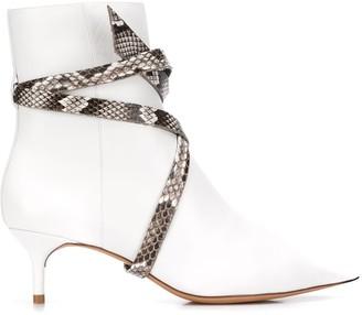 Alexandre Birman Kittie python wrap boots