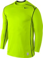 Nike Men's Dri-Fit Hyperwarm Pro Combat 2.0 Fitted Training Shirt-Neon Yellow/Black-2XL