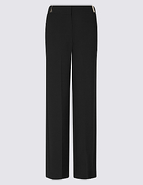 Per Una Grosgrain Detail Wide Leg Trousers