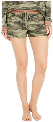 PJ Salvage In Command Camo Shorts (Olive) Women's Pajama