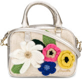 Simonetta floral appliqué shoulder bag