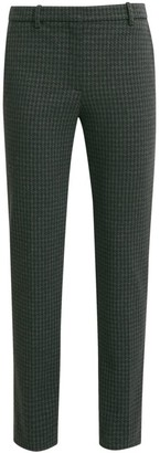 Theory Houndstooth Knit Tailored Trousers