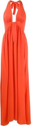 Fisico Sleeveless Halterneck Maxi Dress