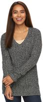 Croft & Barrow Women's V-Neck Cable Knit Sweater
