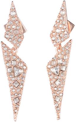 Alexis Bittar Crystal Encrusted Dangling Origami Post Earring