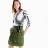 J.Crew Petitefloral embroidered tie-waist skirt