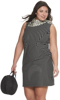 Plus Size EVRI Seamed Ponte Dress