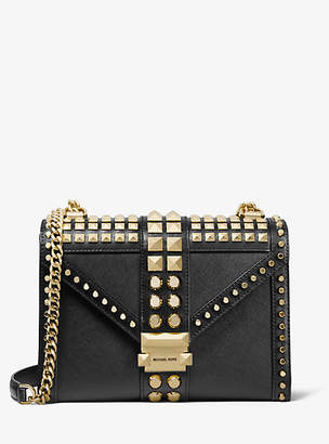 MICHAEL Michael Kors Whitney Large Studded Saffiano Leather Convertible Shoulder Bag