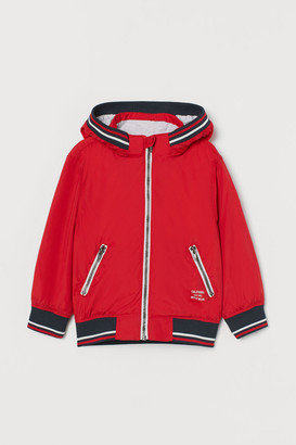 H&M Jersey-lined Nylon Jacket - Red
