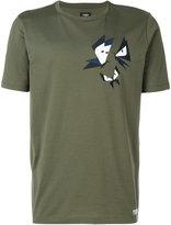 Fendi graphic butterfly appliqué T-shirt - men - Cotton/Polyester/plastic - 50