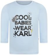 Karl Lagerfeld Baby Boys Blue Cotton Jersey Top
