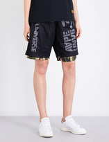 Aape Reversible camouflage-print sports-mesh shorts