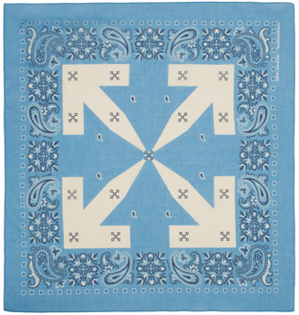 Off-White Off White Blue Bandana Scarf