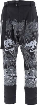 Sacai Tropical Print Pants