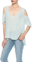 Free People Cold Shoulder V-Neck Tee