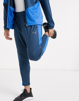 Puma color block sweatpants in blue