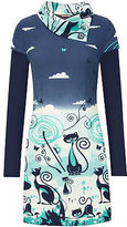Joe Browns Womens Slouch Neck Tunic with Cute Cat Print Detail