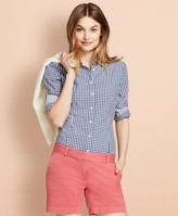 Brooks Brothers Gingham Stretch Cotton Poplin Shirt