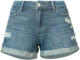 Paige distressed denim shorts - women - Cotton/Rayon - 23