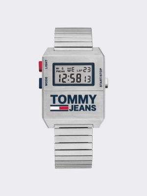 Tommy Hilfiger Digital Stainless Steel Silver Watch