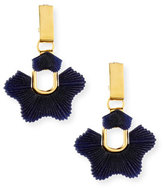 Lele Sadoughi Sculpted Sugarbush Statement Earrings, Dark Blue