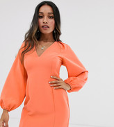 Asos DESIGN Petite cape sleeve open back mini dress