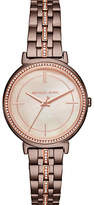 Michael Kors MK3737 Women's Cinthia Pave Crystal Bracelet Strap Watch, Bronze/Rose Gold