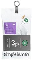 Simplehuman Code X Bin Liners - Pack of 60