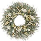 Floral Treasure Seashell Wreath