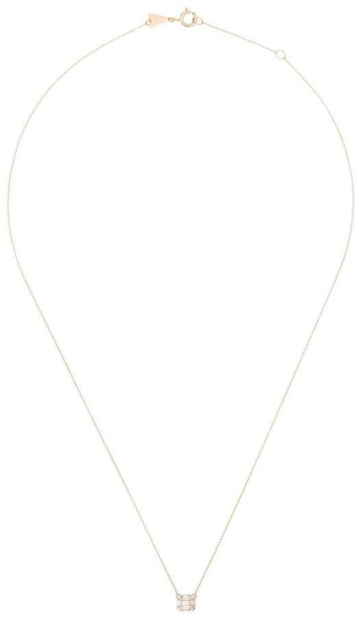 Adina Reyter 14-Karat Yellow Gold Baguette-Cut Diamond Necklace