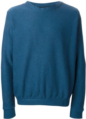 The Elder Statesman Cooked Cashmere Herring Crew Neck