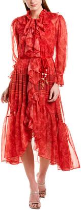 Beulah Ruffle Midi Dress