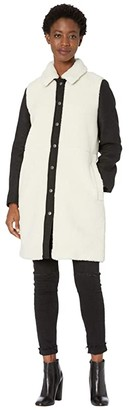 Madewell Camden Sherpa Coat with Wool Sleeves (Natural Sherpa As He) Women's Clothing