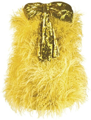 ATTICO bow embellished mini dress