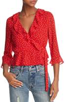 Bardot Polka Dot Wrap Top