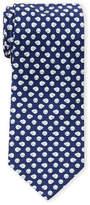 Salvatore Ferragamo Silk Blue Sheep Print Tie