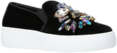 Carvela Lorraine Embellished Slip On Trainers, Black