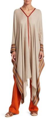 Loro Piana Stripe Silk & Cashmere Poncho