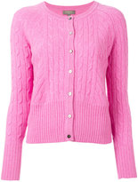 N.Peal cropped cable cardigan - women - Cashmere - S