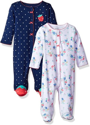 Carter's Baby Girls' 2-Pack Cotton Sleep and Play