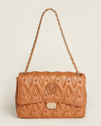 Mario Valentino Valentino By Posh D Sauvage Caramel Stud Shoulder Bag