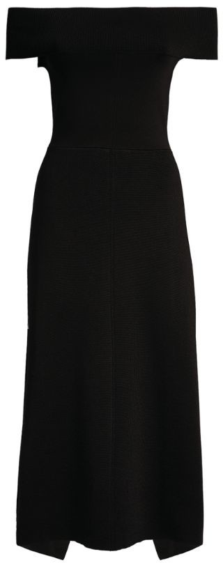 Victoria Beckham Off-The-Shoulder Midi Dress