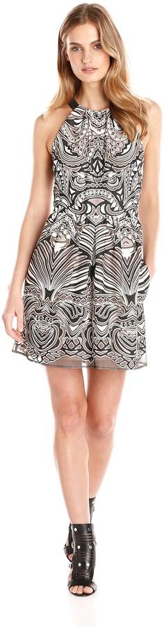 BCBGMAXAZRIA Azria Women's Cailyn Lace Halter Dress