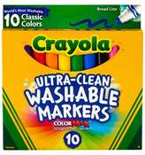 Crayola Ultra-Clean Markers Broad Line Washable 10ct Classic