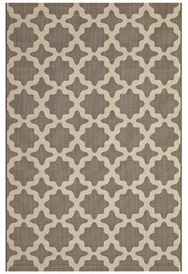 Charlton Home Hervey Bay Moroccan Trellis Beige Indoor/Outdoor Area Rug Rug Size: Rectangle 5' x 8'