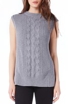 Michael Stars Women's Sleeveless Mock Neck Cable Knit Tunic