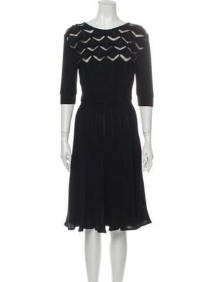 Oscar de la Renta 2015 Midi Length Dress Wool